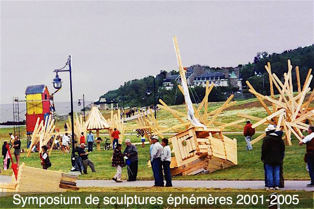 Photo Symposium de sculptures éphémères 2001-2005.–Photo Bernard Gendron